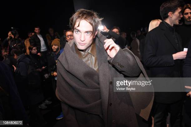 Robert Pattinson attends the Dior Homme Menswear Fall/Winter 20192020 show as part of Paris Fashion Week on January 19 2019 in Paris France
