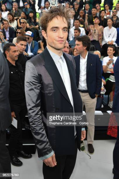 Robert Pattinson attends the Dior Homme Menswear Spring/Summer 2019 show as part of Paris Fashion Week Week on June 23 2018 in Paris France