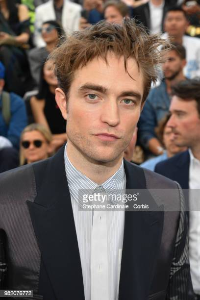 Robert Pattinson attends the Dior Homme Menswear Spring/Summer 2019 show as part of Paris Fashion Week Week on June 23 2018 in Paris France