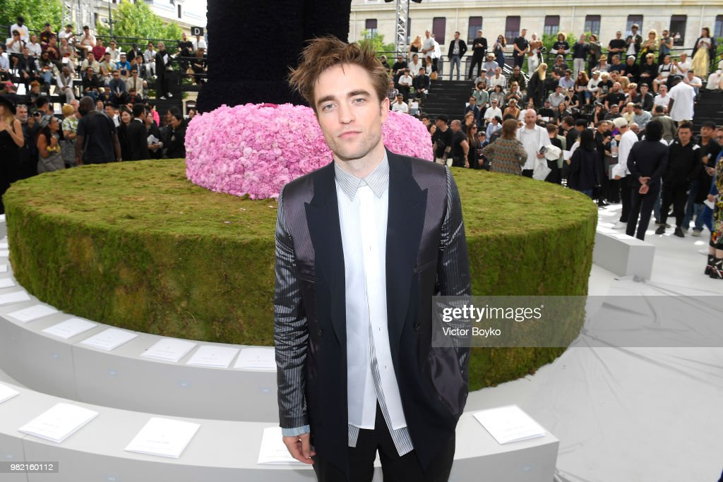Robert Pattinson attends the Dior Homme Menswear Spring/Summer 2019 show as part of Paris Fashion Week on June 23, 2018 in Paris, France.