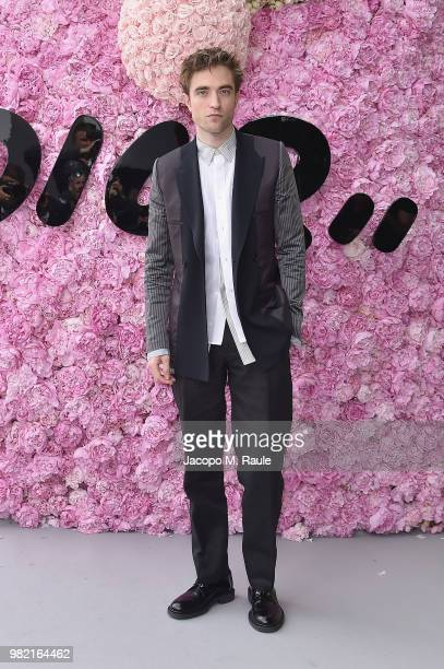 Robert Pattinson attends the Dior Homme Menswear Spring/Summer 2019 show as part of Paris Fashion Week on June 23 2018 in Paris France