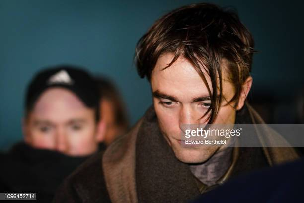 Robert Pattinson attends the Dior show during Paris Fashion Week Menswear F/W 20192020 on January 18 2019 in Paris France