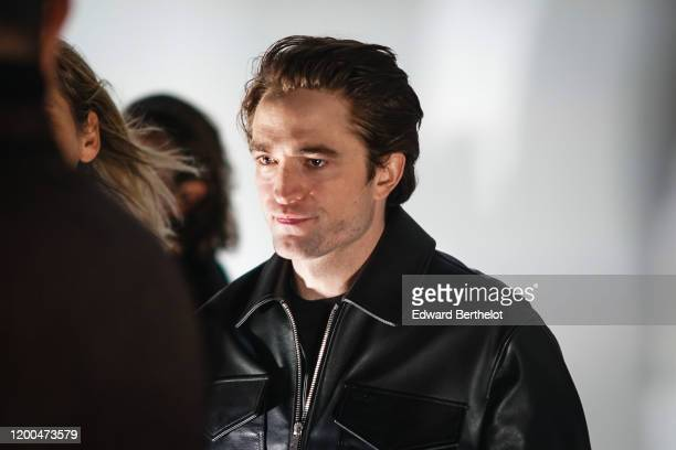 Robert Pattinson attends the Dior show during Paris Fashion Week Menswear F/W 20202021 on January 17 2020 in Paris France