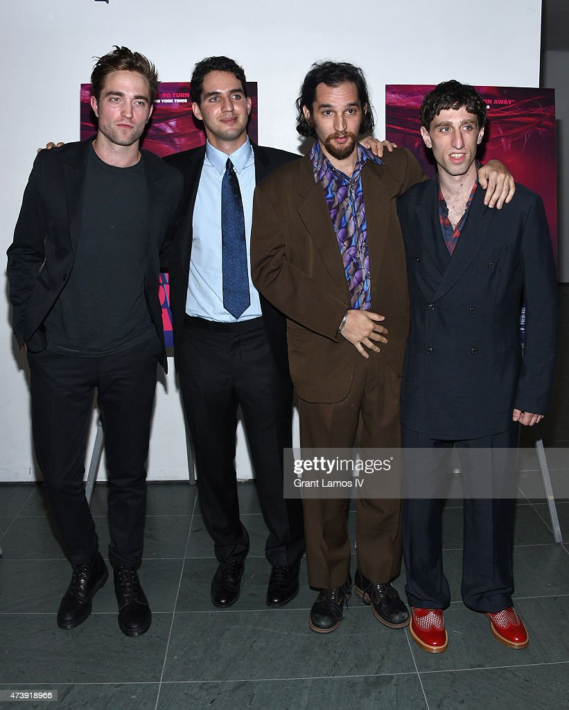 Robert Pattinson, Benny Safdie, Josh Safdie and Buddy Duress attend 'Heaven Knows What' New York Premiere at the Celeste Bartos Theater at the Museum of Modern Art on May 18, 2015 in New York City.