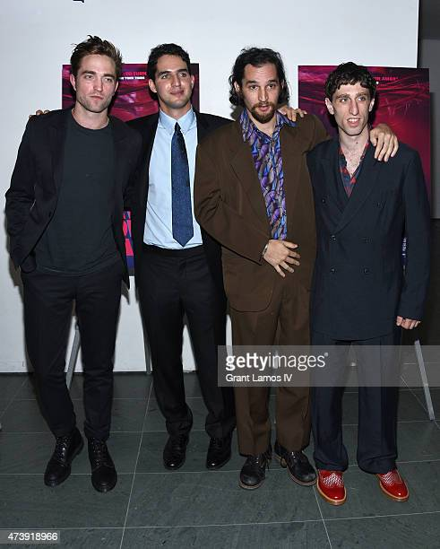 Robert Pattinson Benny Safdie Josh Safdie and Buddy Duress attend 'Heaven Knows What' New York Premiere at the Celeste Bartos Theater at the Museum...