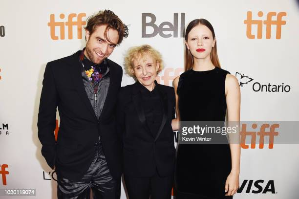 Robert Pattinson Claire Denis and Mia Goth attend the High Life premiere during 2018 Toronto International Film Festival at Roy Thomson Hall on...