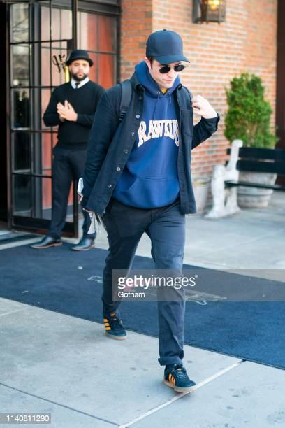 Robert Pattinson is seen in the East Village on April 06 2019 in New York City