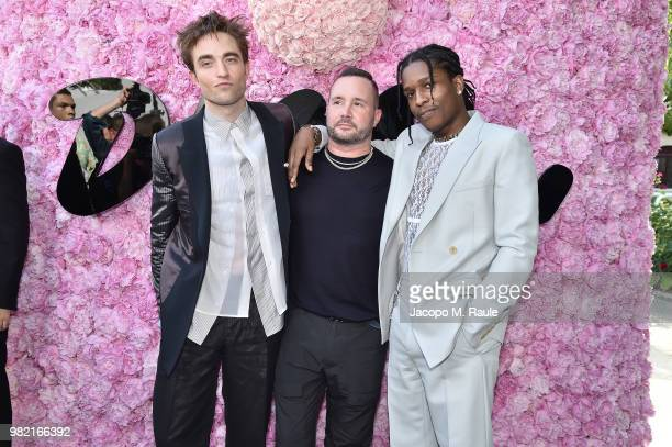 Robert Pattinson Kim Jones and ASAP Rocky attend the Dior Homme Menswear Spring/Summer 2019 show as part of Paris Fashion Week on June 23 2018 in...