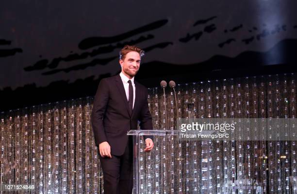 Robert Pattinson on stage during The Fashion Awards 2018 In Partnership With Swarovski at Royal Albert Hall on December 10 2018 in London England