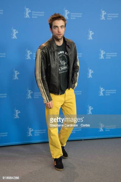 Robert Pattinson poses at the 'Damsel' photo call during the 68th Berlinale International Film Festival Berlin at Grand Hyatt Hotel on February 16...