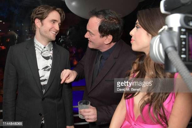 Robert Pattinson Quentin Tarantino and Daniella Pick attend the Vanity Fair and Chopard Party celebrating the 72nd Annual Cannes Film Festival at...