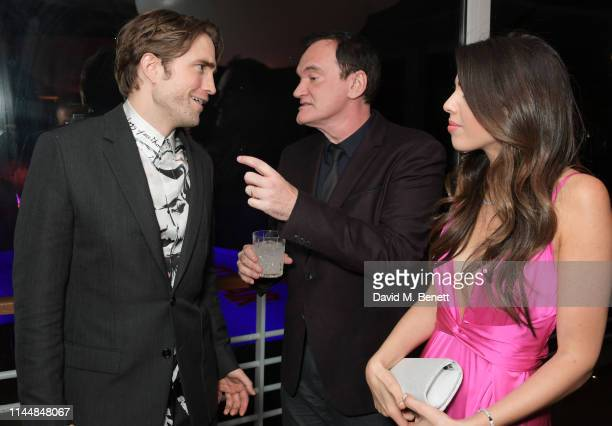 Robert Pattinson Quentin Tarantino and Daniella Tarantino attend the Vanity Fair and Chopard Party celebrating the 72nd Annual Cannes Film Festival...