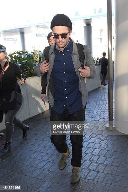 Robert Pattinson seen at LAX on February 24 2015 in Los Angeles California