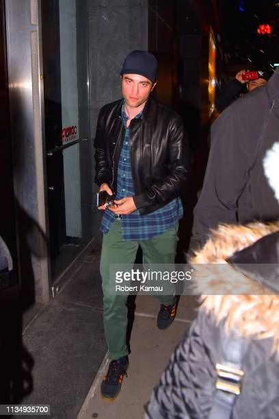 Robert Pattinson seen out and about in Manhattan on April 4 2019 in New York City