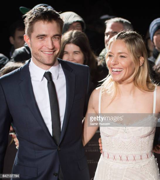 Robert Pattinson Sienna Miller and Charlie Hunnam arrive at The Lost City of Z UK premiere on February 16 2017 in London United Kingdom