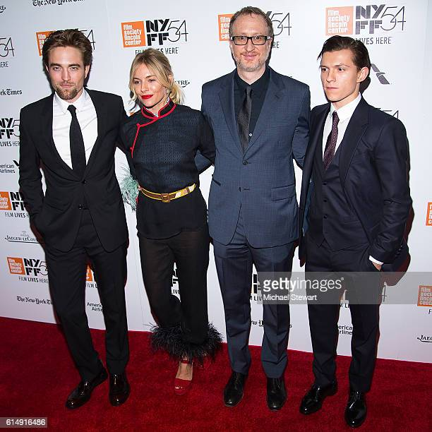 Robert Pattinson Sienna Miller James Gray and Tom Holland attend the 54th New York Film Festival closing night screening of The Lost City Of Z at...