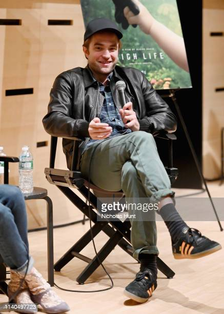 Robert Pattinson speaks at The Film Society of Lincoln Center's Film Comment Free Talk for High Life at Elinor Bunin Munroe Film Center on April 04...
