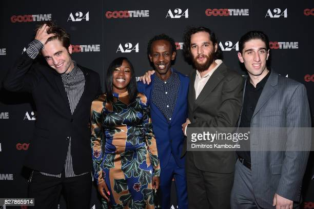 Robert Pattinson Taliah Webster Barkhad Abdi Ben Safdie and Buddy Duress attend 'Good Time' New York Premiere at SVA Theater on August 8 2017 in New...