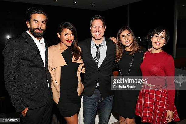 "Robert Paul Taylor, Vivian Lamolli, Francisco Lorite, Lauren Perez and Lola Anthony attend the NUVOtv's ""NUVO Point of View: The Emerging Latino..."