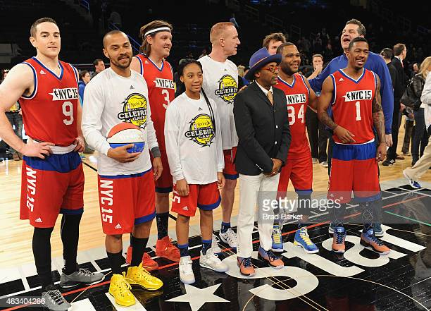 Robert Pera Jesse Williams Win Butler Mo'Ne Davis Spike Lee Anthony Anderson Mike Golic and Nick Cannon attend the NBA AllStar Celebrity Game NBA All...