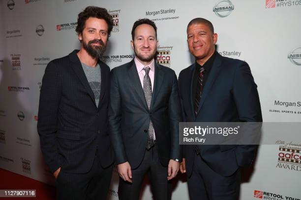 Robert Persichetti Jr Rodney Rothman and Peter Ramsey attend the 10th annual AAFCA Awards at Taglyan Complex on February 06 2019 in Los Angeles...