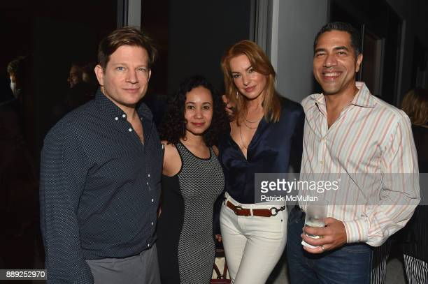 Robert Peter Miller Tatiana Silva Gisele Nicolas and Stefan Nicolas attend the Galerie Gmurzynska Dinner in Honor of Jean Pigozzi at the Penthouse at...