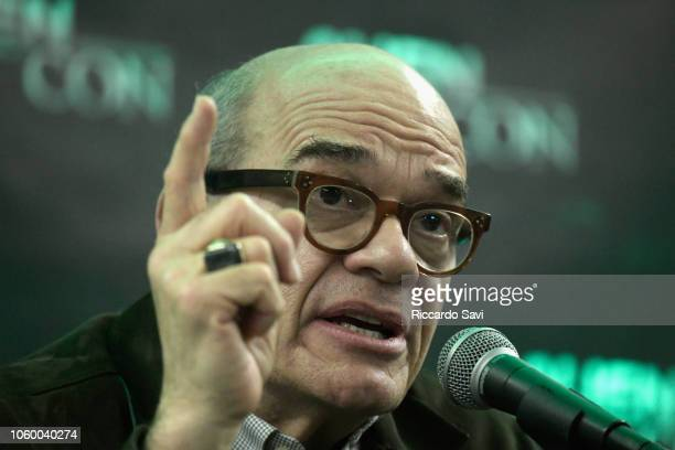 Robert Picardo speaks onstage at the Spotlight Star Trek's Robert Picardo during day 2 of AlienCon Baltimore 2018 at Baltimore Convention Center on...