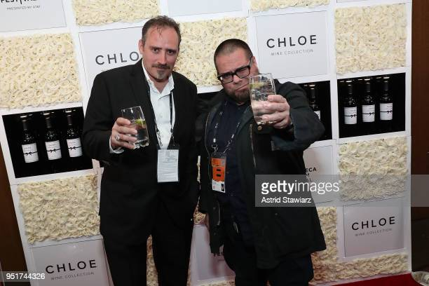 Robert Pietri and Alex Budovsky attend the 2018 Tribeca Film Festival awards night after party on April 26 2018 in New York City