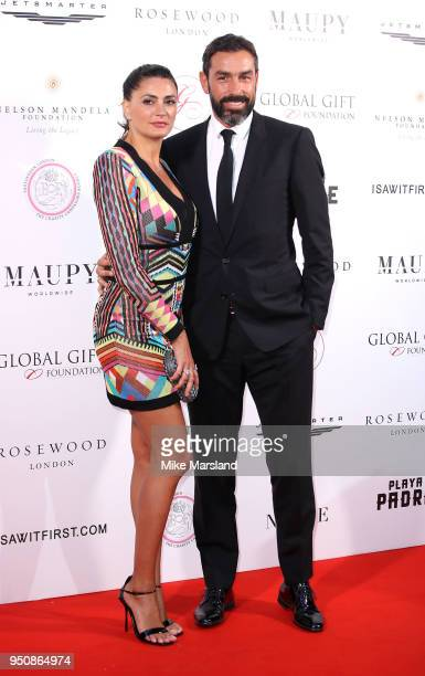 Robert Piirs and Jessica Lemarie attends The Nelson Mandela Global Gift Gala at Rosewood London on April 24 2018 in London England