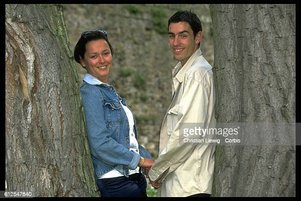 Robert Pires and his wife Nathalie.