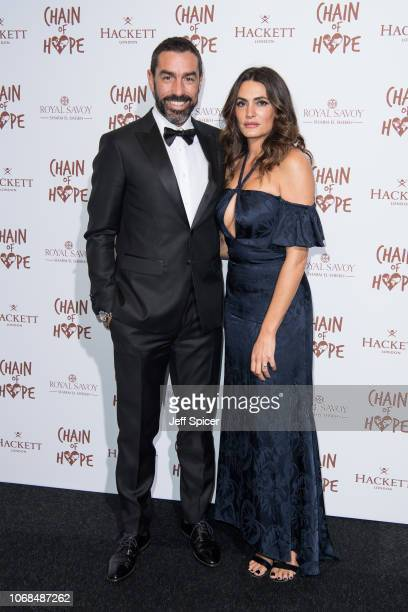 Robert Pires and Jessica Le Marie Pires attend the Chain Of Hope Gala Ball 2018 at Old Billingsgate on November 16 2018 in London England