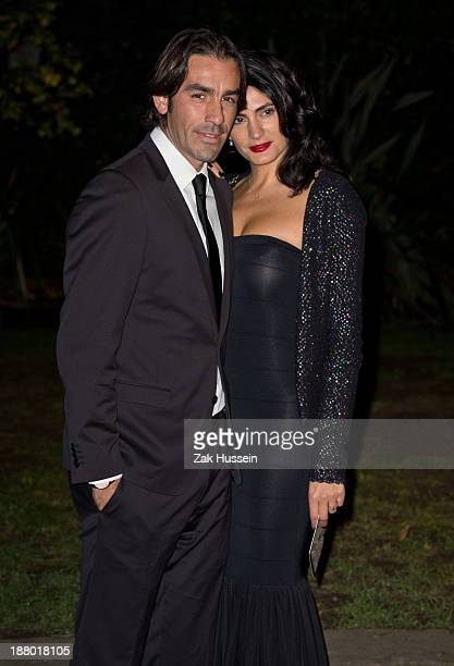 Robert Pires and Jessica Lemarie arrive at the Chain Of Hope Annual Ball at Supernova, Embankment Gardens on November 14, 2013 in London, England.