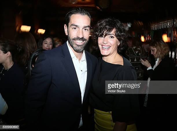 Robert Pires and Jessica Lemarie attend the Dior Welcome Dinner at the Lady Dior Pub to celebrate the Cruise Collection 2017 on May 30, 2016 in...