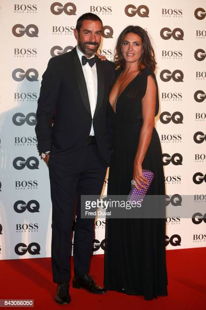 Robert Pires and Jessica Lemarie attend the GQ Men Of The Year Awards at Tate Modern on September 5 2017 in London England