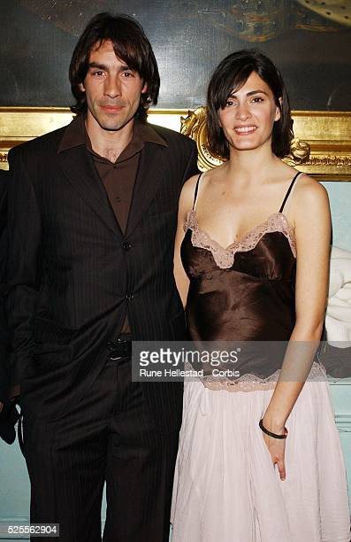 Robert Pires and Jessica LeMarie attend the Renault French Film Season launch at The Institute of Directors Pall Mal