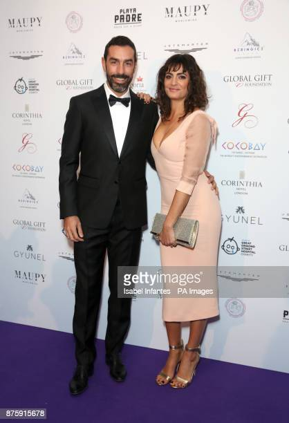 Robert Pires and Jessica LemariePeres attending the Global Gift Gala held at The Corinthia Hotel in London