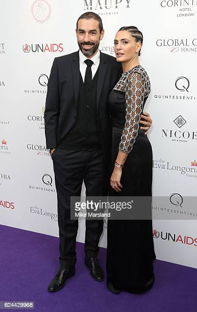 Robert Pires and Jessica Pires attend the Global Gift Gala London on November 19, 2016 in London, United Kingdom.