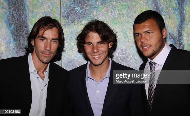 Robert Pires and Raphael Nadal and Jo Wilfried Tsonga Father attend ''the Jo Wilfried Tsonga 'Ace de Coeur' Charity Cocktail'' at Hotel Park Hyatt on...