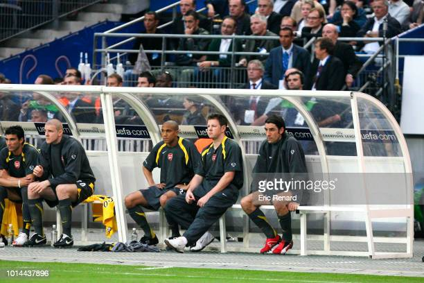 Robert Pires of Arsenal looks dejected during the Champions League Final match between Barcelona and Arsenal at Stade de France, Paris, France on May...