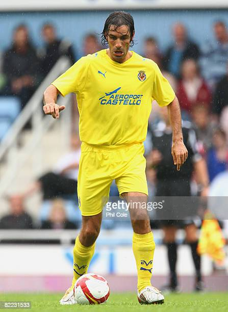 Robert Pires of Villarreal in action during The Bobby Moore Cup pre season friendly match between West Ham United and Villarreal at Upton Park on...