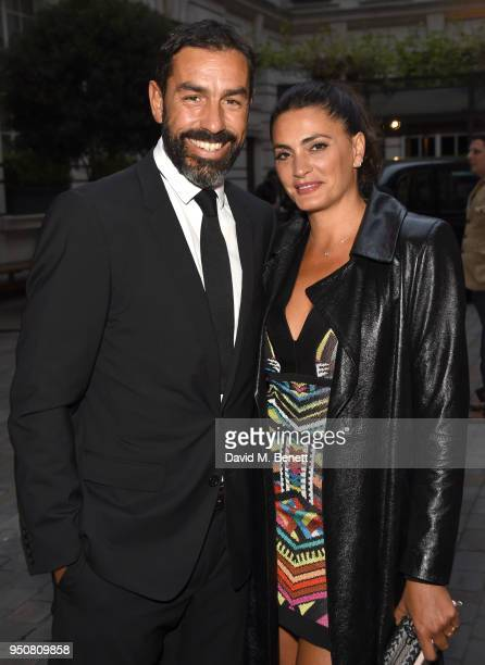 Robert Pirs and Jessica Lemarie attend The Nelson Mandela Foundation Gala Dinner at Rosewood London on April 24 2018 in London England
