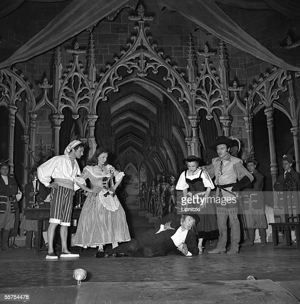' Robert Planquette's Corneville's bells ' Bernard Alvi Andree Grandjean Ded Rysel Denise Menez Michel Dens Paris theatre of the Gaite Lyrique 1958...