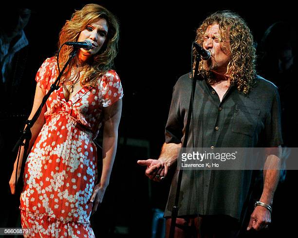 Robert Plant and Alison Krauss in concert on June 23 2008 at the Greek Theatre