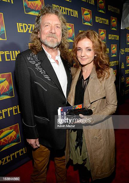 Robert Plant and Patty Griffin attend the premiere of 'Led Zeppelin Celebration Day' at Ziegfeld Theatre on October 9 2012 in New York City Led...