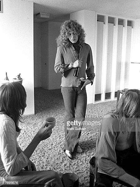 Robert Plant at Continental Hyatt House with Boz Burrell and Simon Kirke of Bad Company Hollywood CA May 1974 Various Locations Mark Sullivan 70's...
