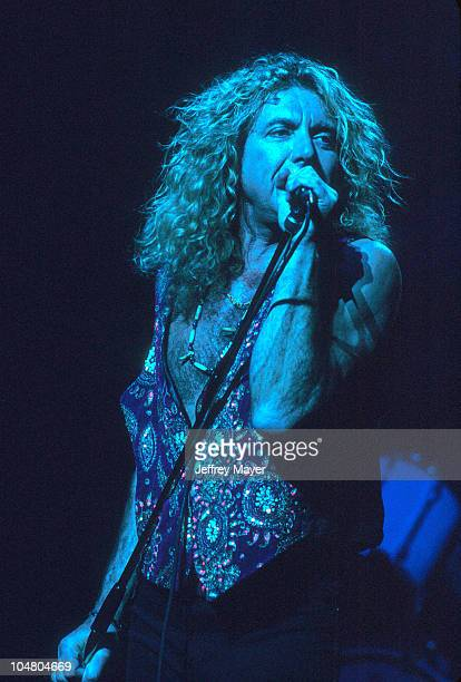 Robert Plant in concert 1993 during Robert Plant performing in 1993 in Los Angeles California United States