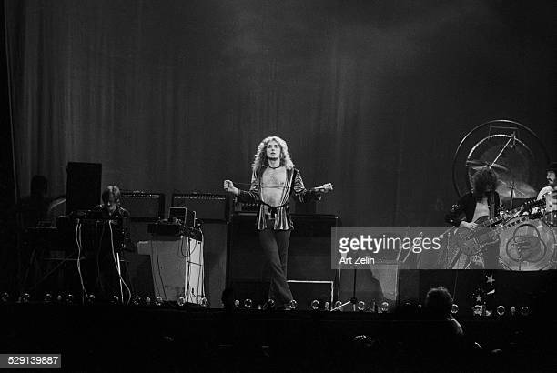 Robert Plant in performance with Led Zeppelin circa 1970 New York