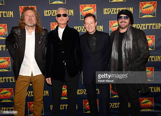 Robert Plant Jimmy Page John Paul Jones and Jason Bonham attend the premiere of 'Led Zeppelin Celebration Day' at Ziegfeld Theatre on October 9 2012...