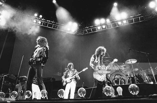Robert Plant John Paul Jones and Jimmy Page of Led Zeppelin 1975