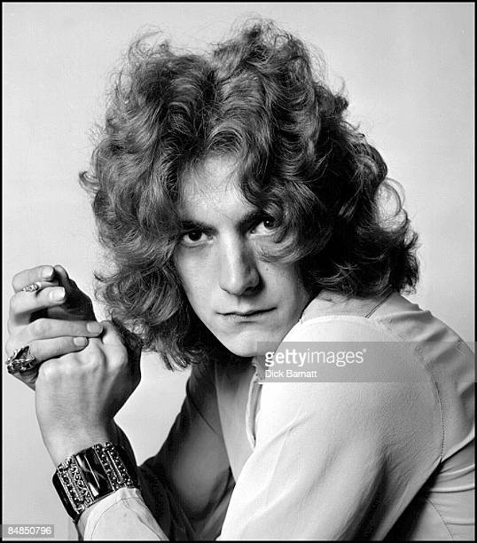 Photo of Robert Plant lead singer with LED ZEPPELIN posed in London in December 1968